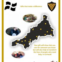This is an image of the cover of the Cornish Christmas Giving Catalogue, which features Mental Health Charity, The Chy Sawel Project, this year